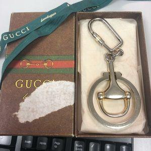 Vintage Gucci Key Ring with Box and ribbon